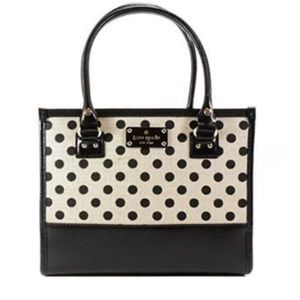 Kate Spade Belletown Quinn Polka Dot Satchel NWT